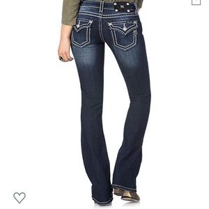 Miss Me Loose Saddle Stitch Bootcut Jeans